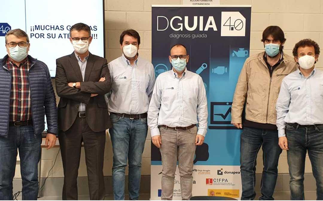 Participantes en la presentación del proyecto llevado a cabo en Zaragoza. Foto: CPIFP Bajo Aragón