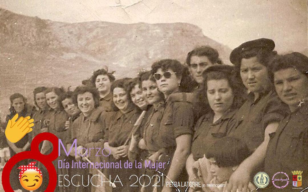 Uno de los carteles alusivos al 8M, en los que las mujeres son protagonistas./ ACCPAME