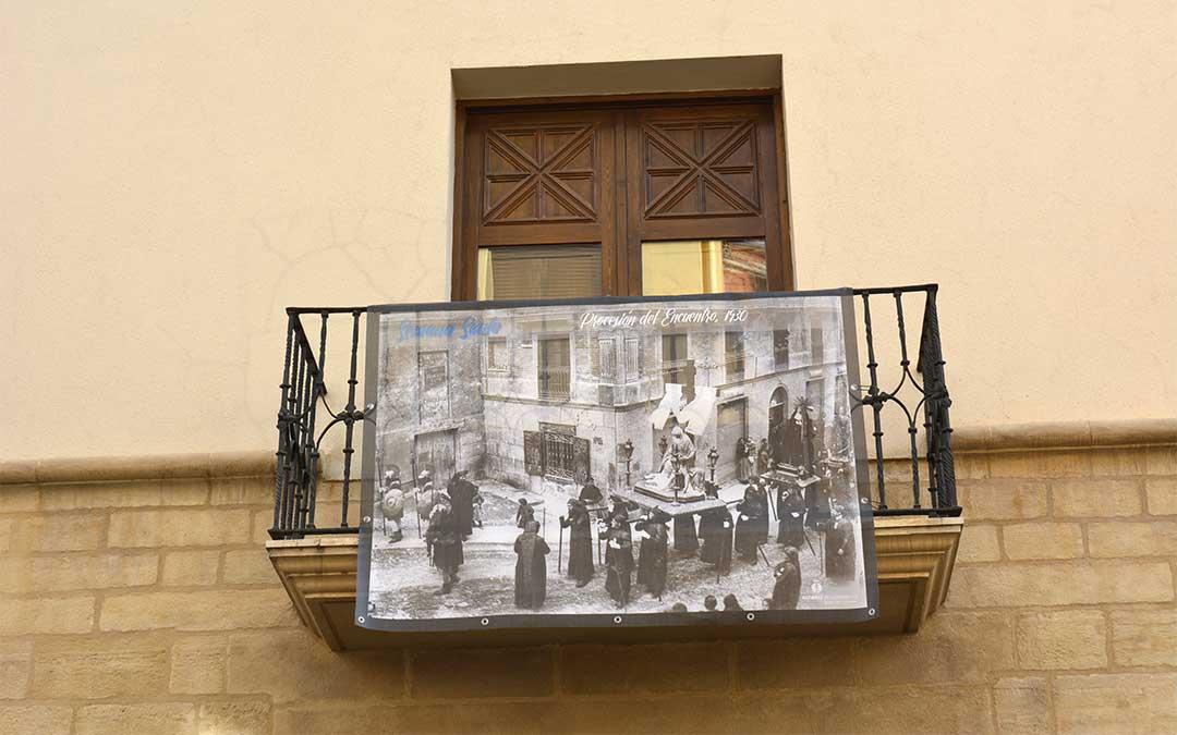 Procesión del Encuentro (1930) en el espacio municipal 'el Liceo'./ M.C.