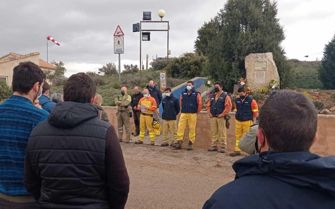 Homenaje a los seis fallecidos / Base Alcorisa