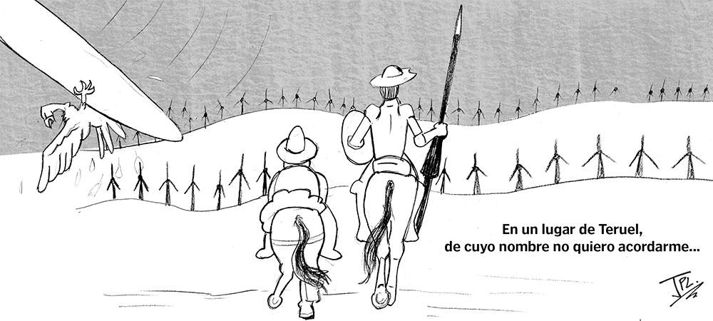 humor grafico aerogeneradores teruel