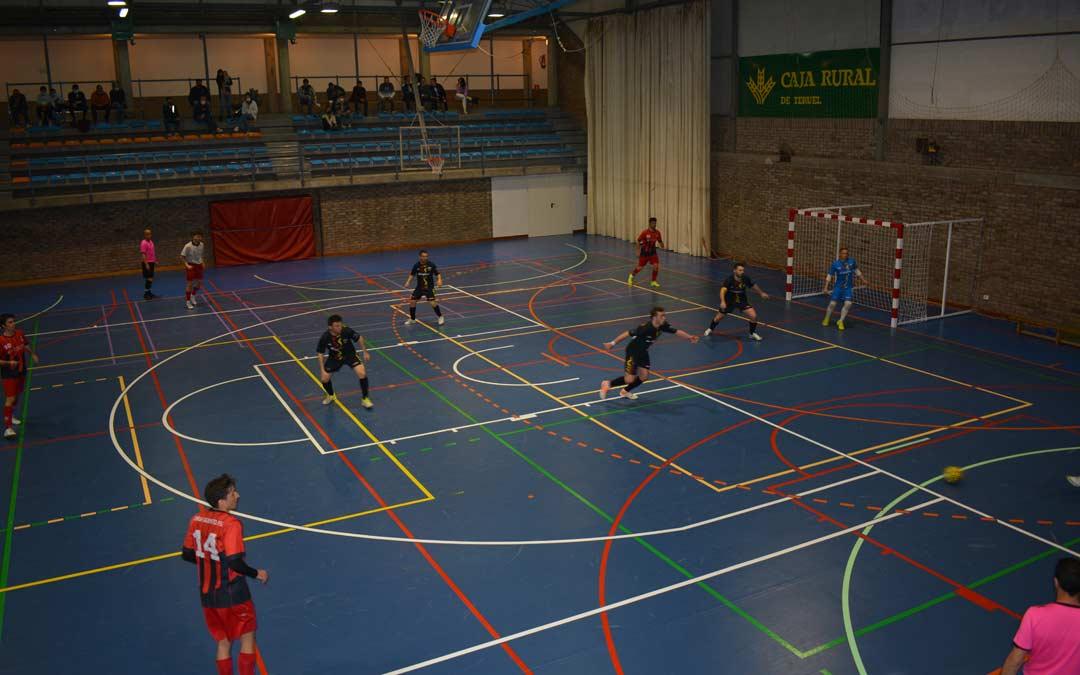 Partido disputado este sábado entre Intersala Alcañiz y Sala Quinto./I.M.