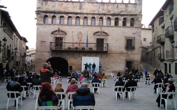 La Fresneda recibe a los deportistas de la Marcha por la Dignidad Rural de Teruel