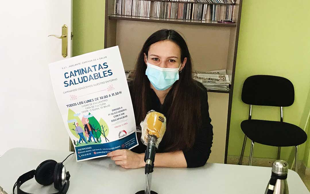 Laura Borruey, terapeuta ocupacional de ASADICC./ L.C.