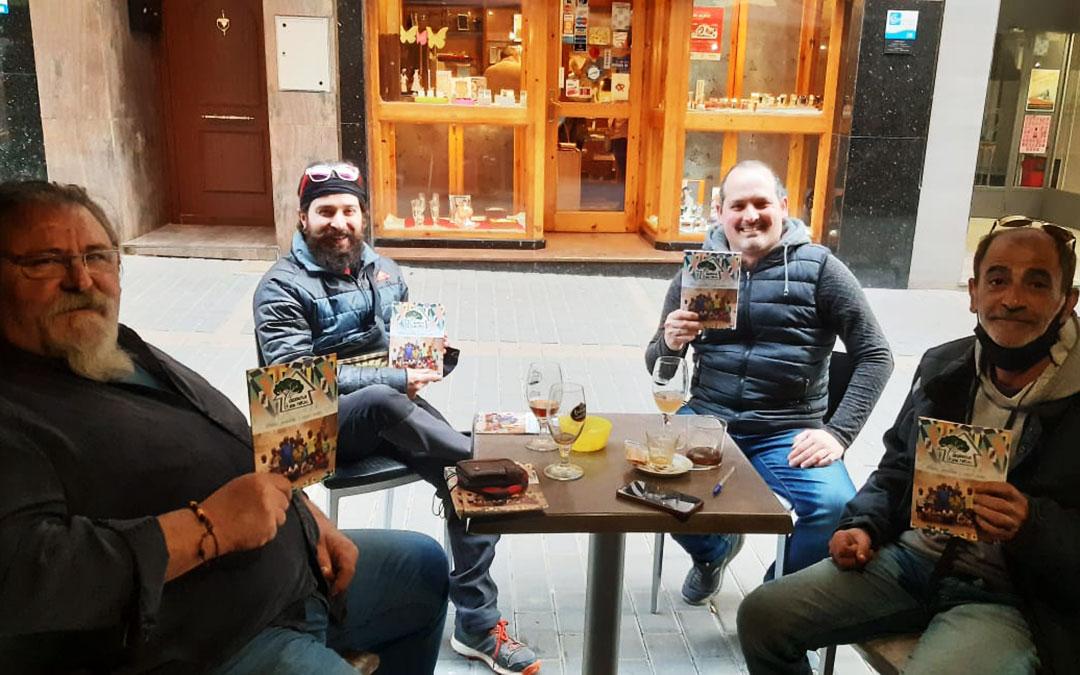 Algunos de los autores del libro: Xavi Guimerá, Adrián Fontoba, Ricardo Blázquez y Manuel Herrero. M.H.