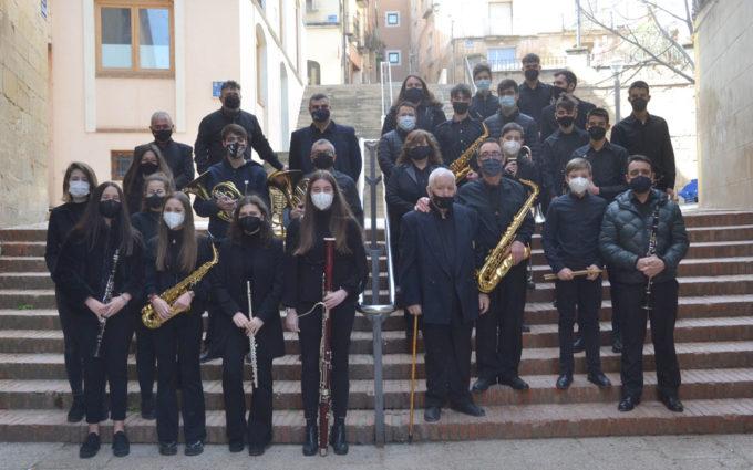 La Lira celebra sin público en la Iglesia del Carmen su tradicional concierto de Semana Santa