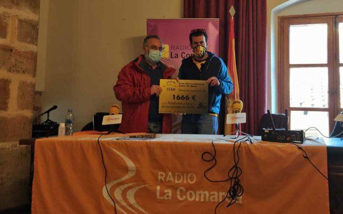 El Matarraña Team dona a la Plataforma por los Paisajes 1.700 euros recogidos durante la Ruta por la Dignidad Rural