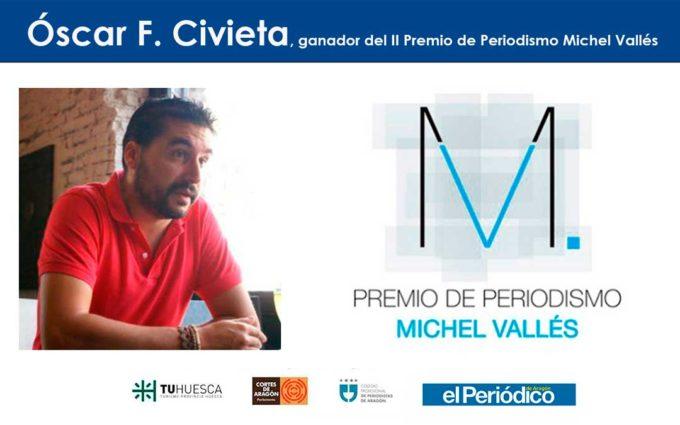 Óscar F. Civieta, ganador del II Premio de Periodismo Michel Vallés