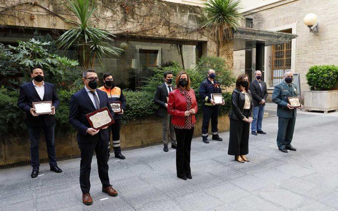 Technopark y la Agrupación de Bomberos Voluntarios de Teruel reciben la Placa al Mérito de Protección Civil 2019