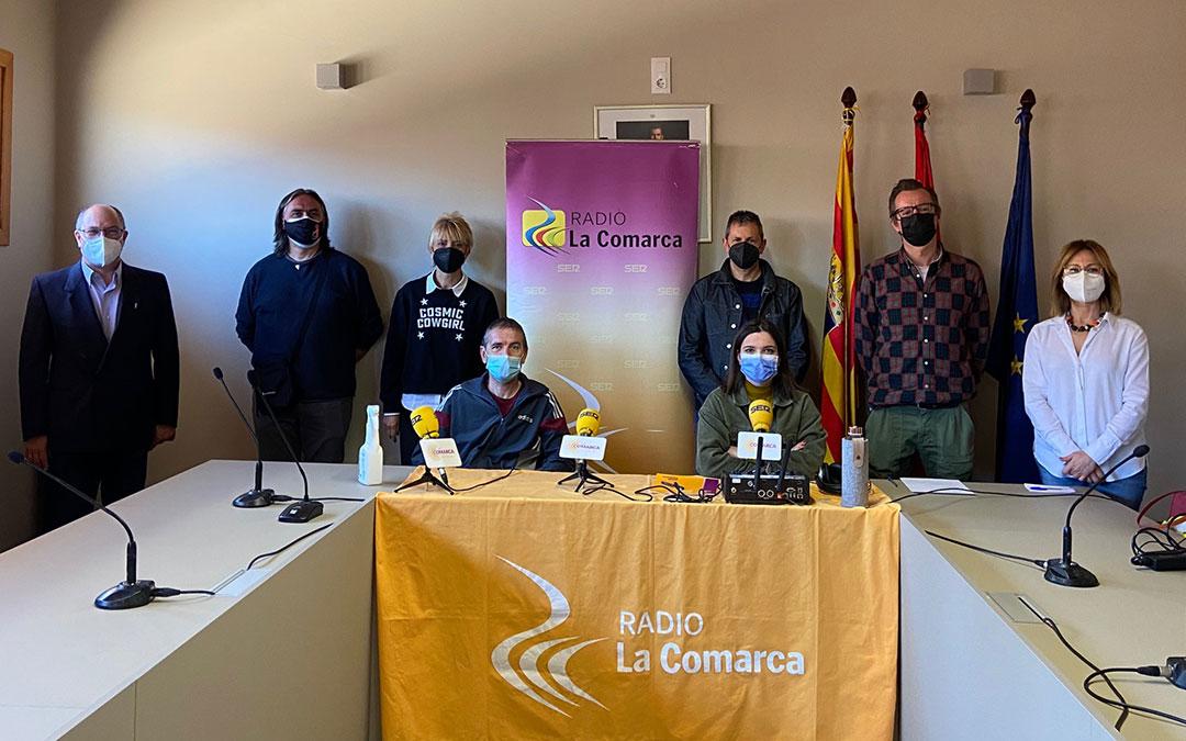 Invitados al programa especial sobre la Semana Santa de Alcorisa emitido por Radio La Comarca este miércoles./ L.C.