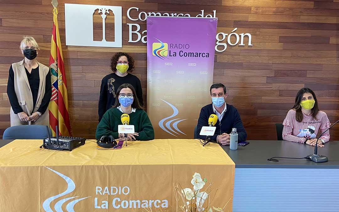 Programa especial sobre el 8M emitido desde la Comarca del Bajo Aragón./ L.C.