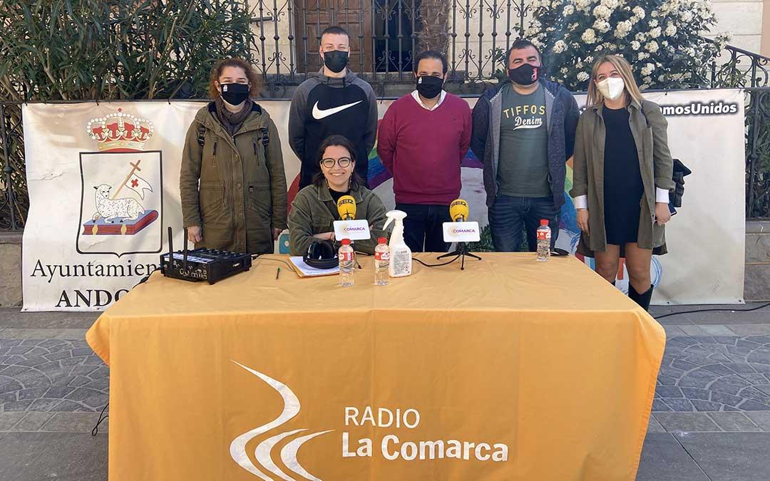 Algunos de los invitados al programa especial emitido desde Andorra con motivo de su Semana Santa./ L.C.