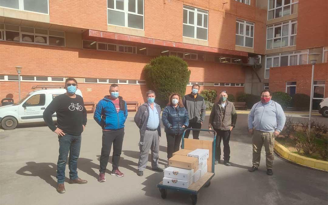 La Asociación de Productores de Leche y Queso de Teruel entrega 400 kilos de queso a las residencias./ Conexión Imaginativa