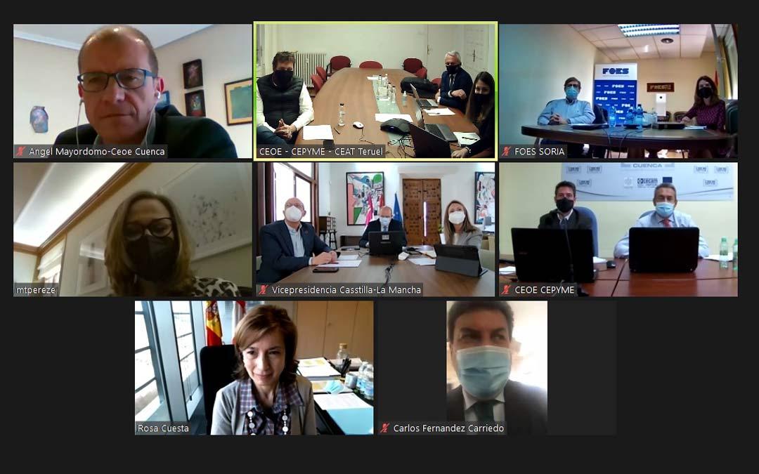 Reunión mantenida con las Comunidades Autonomas de Aragón, Castilla y León y Castilla-La Mancha./SSPA