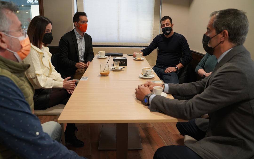 Reunión de Ciudadanos con las asociaciones de empresarios de Alcañiz./Ciudadanos