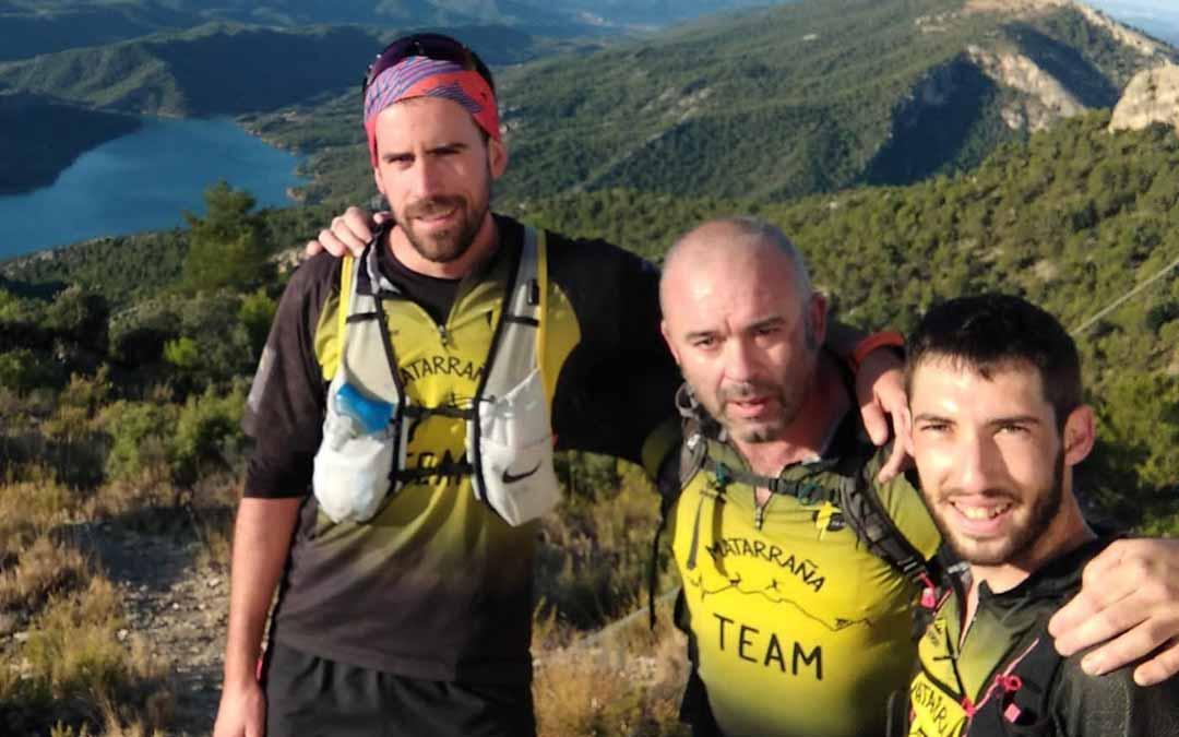 Carlos Jávega, Javier Moragrega y Ángel Antolín, los tres participantes que recorrerán, de forma íntegra, la Ruta por la Dignidad Rural de Teruel.