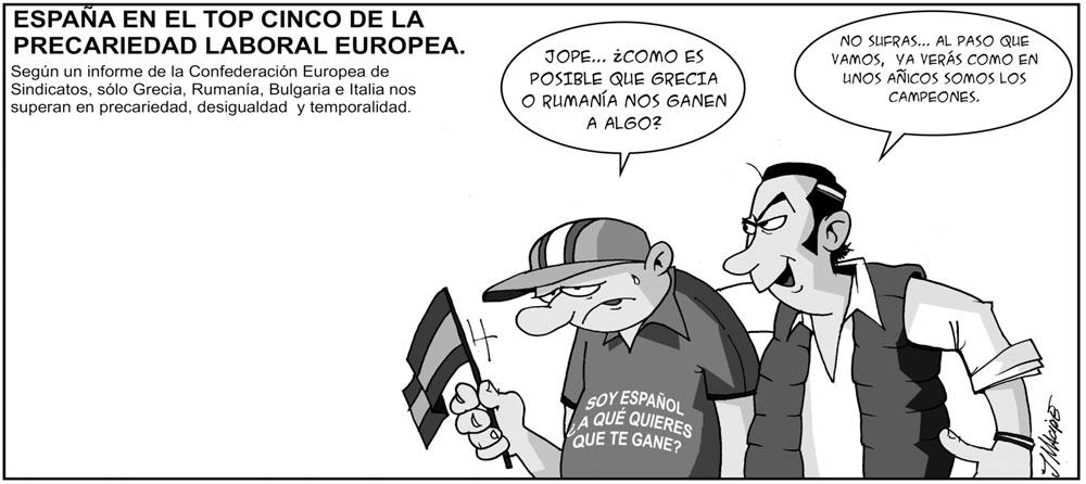 Humor gráfico - precariedad laboral España