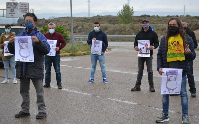 Agricultores del Bajo Aragón participan en la movilización por la PAC que tiene lugar hoy en Teruel
