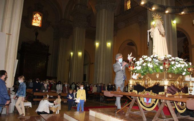 Alcañiz cierra Semana Santa con un acto simbólico de las Palometas
