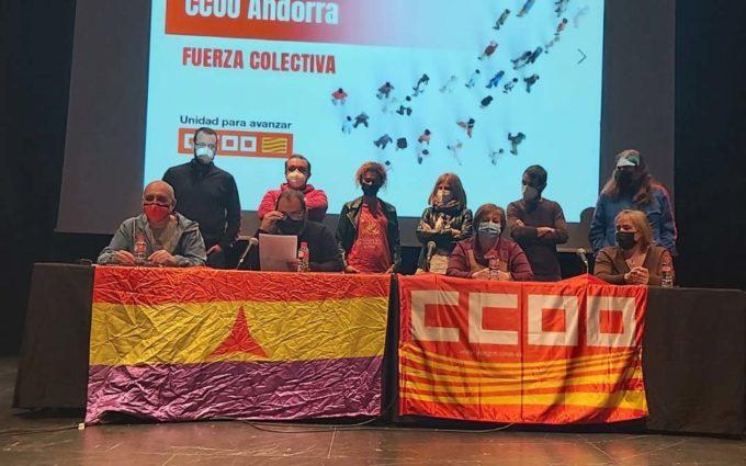 Antonio Jiménez es reelegido como secretario general de la Unión Comarcal de Andorra de CCOO