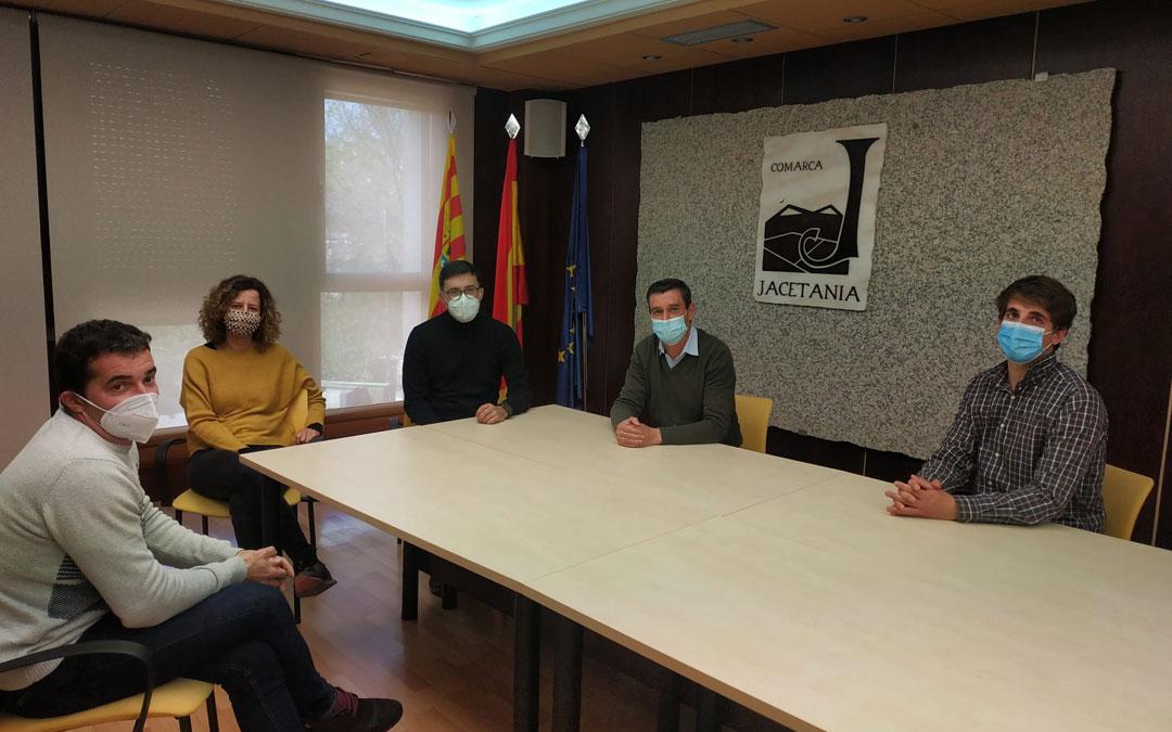 Visita de consejeros del Bajo Aragón a la Comarca de la Jacetania. / Comarca Bajo Aragón