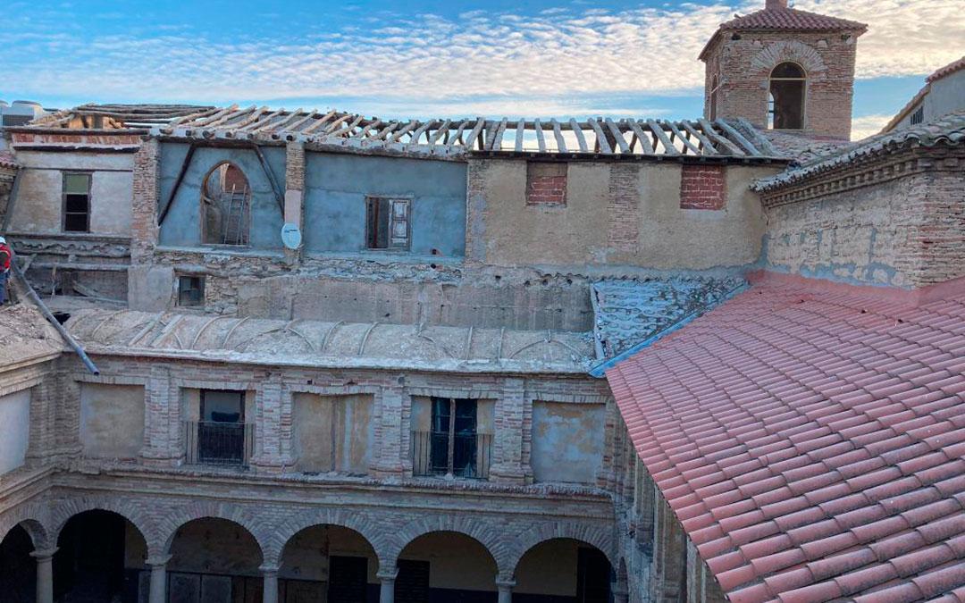 Imagen actual de la cubierta del Convento de Franciscanos. Ayto Caspe