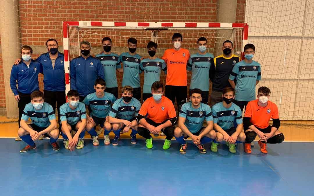 El Boca Híjar de la División de Honor Juvenil de fútbol sala. Foto: Q.M.