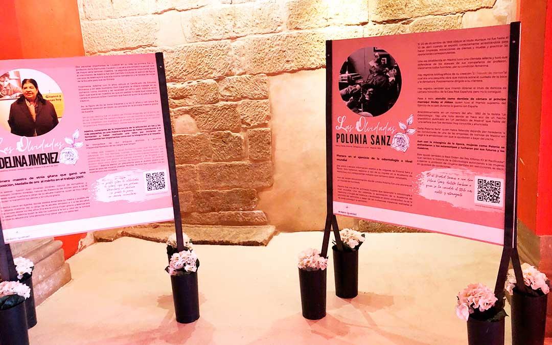 Un rincón de la exposición, en la ermita de la Consolación de Chiprana. A.A.