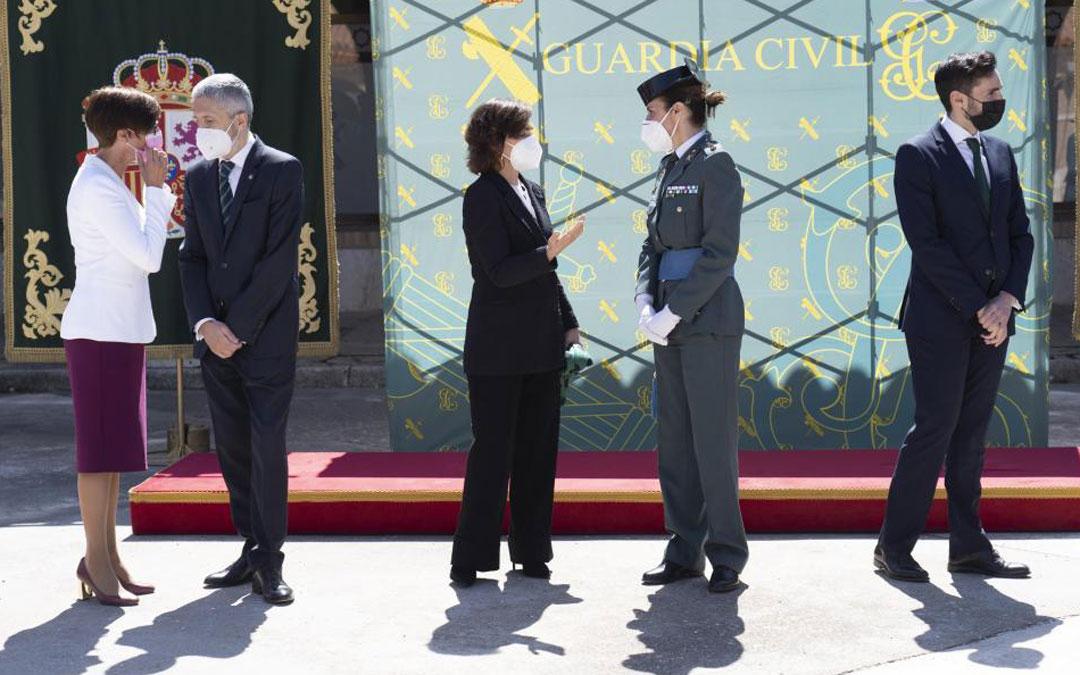 Toma de posesión de Gil con la vicepresidenta Calvo y el ministro Grande-Marlaska a la cabeza /Antonio Garcia/bykofoto