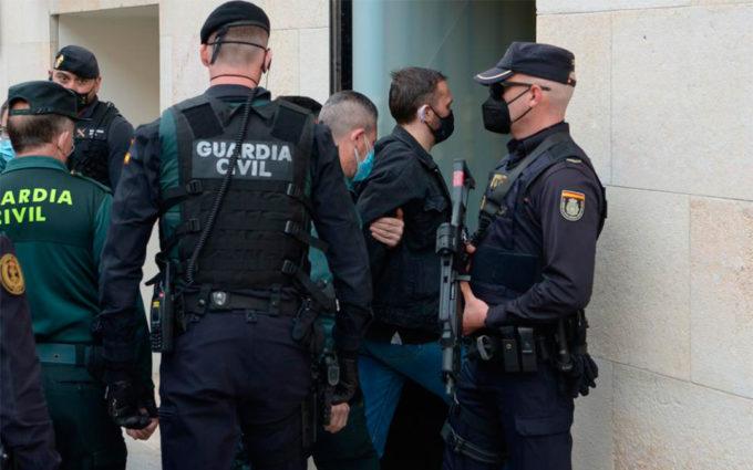 Llegada de Igor el Ruso a la Audiencia de Teruel para ser juzgado por el triple crimen de Andorra
