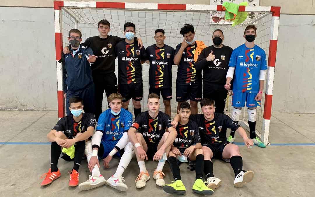Equipo del Intersala Alcañiz Juvenil que ha logrado el ascenso. Foto: Twitter Intersala Alcañiz
