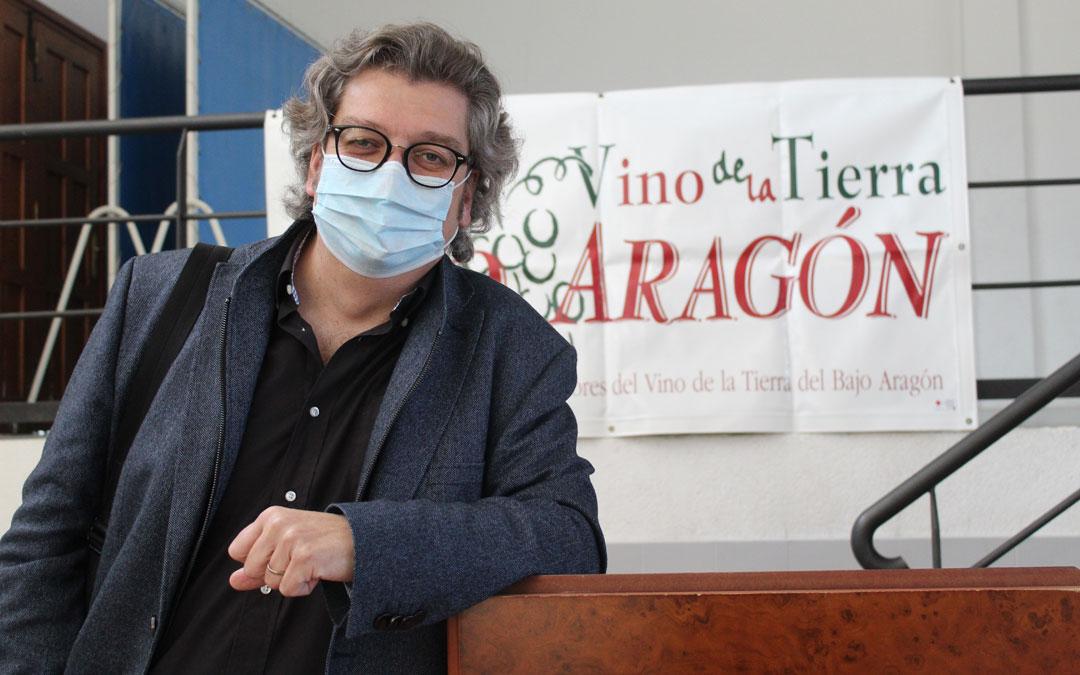 El coordinador del concurso de vinos de la IGP Bajo Aragón, Joan María Riera. / B. Severino