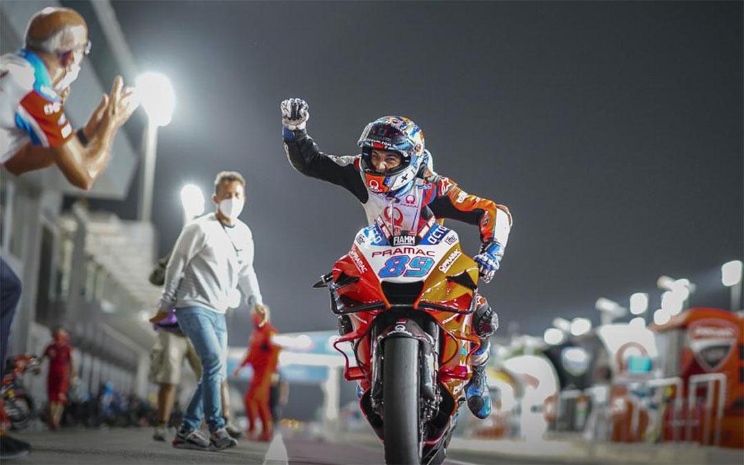 El piloto Jorge Martín este sábado en Doha./ MotoGP