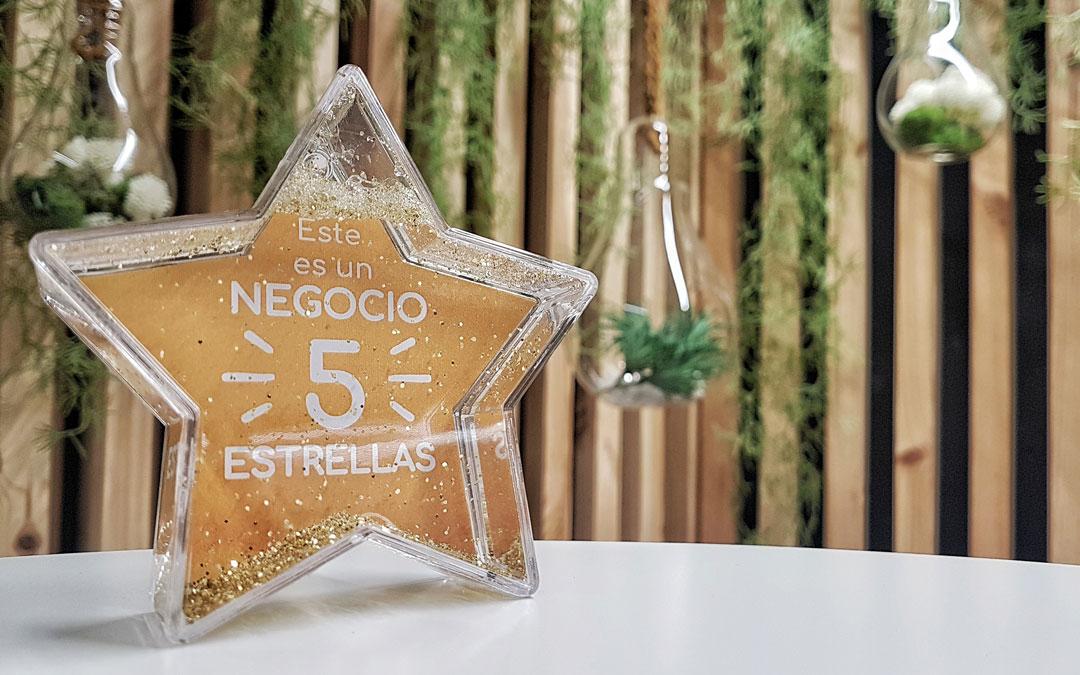 Estrella distintiva que obtendrán los emprendedores que asistan a las cinco formaciones. / Ayuntamiento de Alcorisa