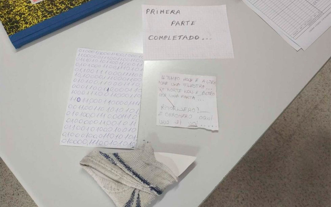 Nota de Igor el Ruso amenazando a los funcionarios de prisiones cuando vuelva a Teruel./Twitter APFP