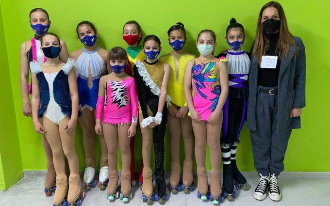 El Alcañiz Club Patín Artístico suma siete podios en el Trofeo Federación