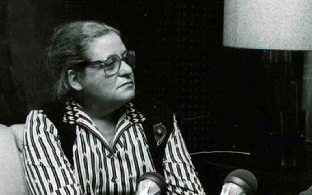 Pilar Narvión durante una entrevista./ L.C.