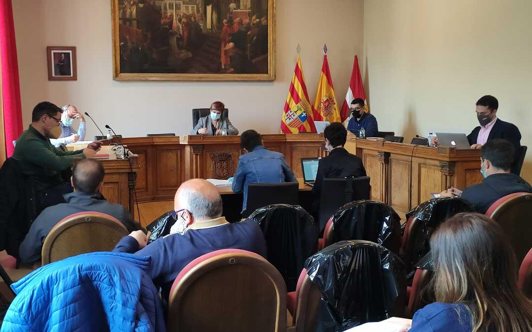 Pleno del Ayuntamiento de Caspe. Foto: Ayto. Caspe