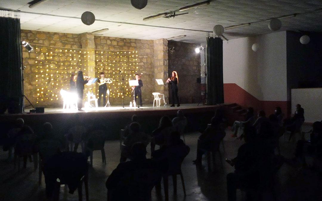 Actuación de Quintet al vent, este sábado en Valdealgorfa./ J.A.