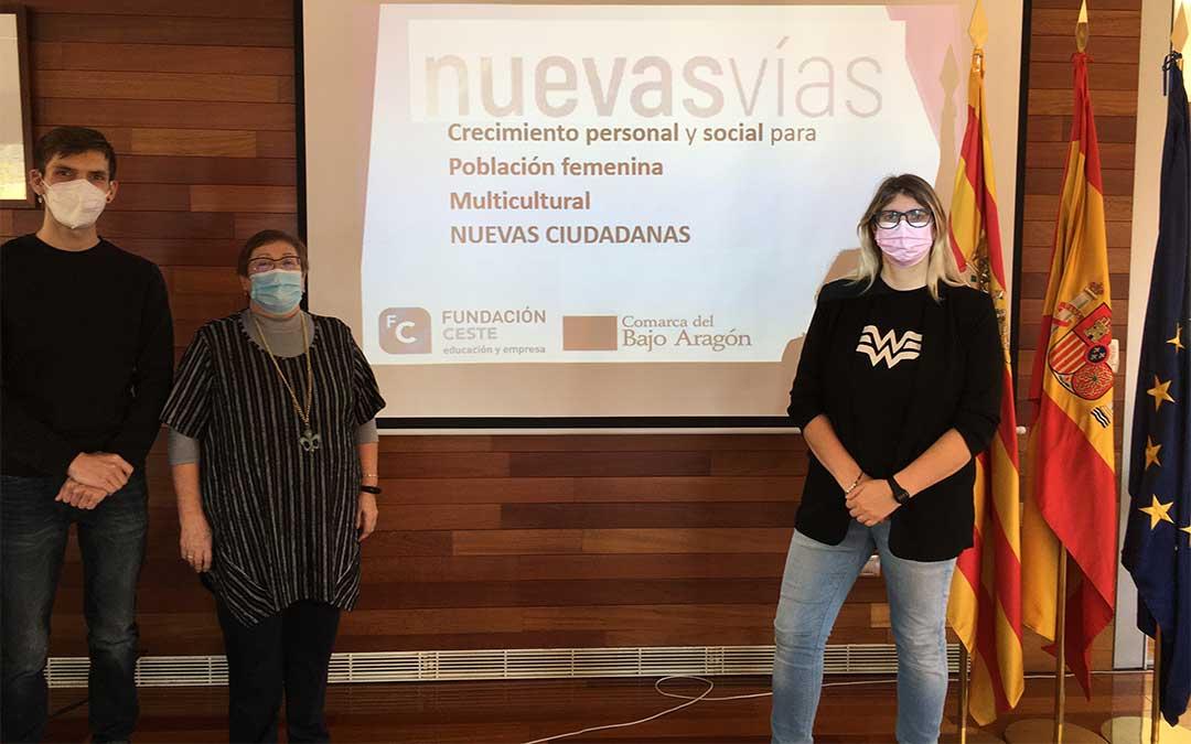 Presentación del proyecto 'Nuevas vías; nuevas ciudadanas'./ Comarca Bajo Aragón