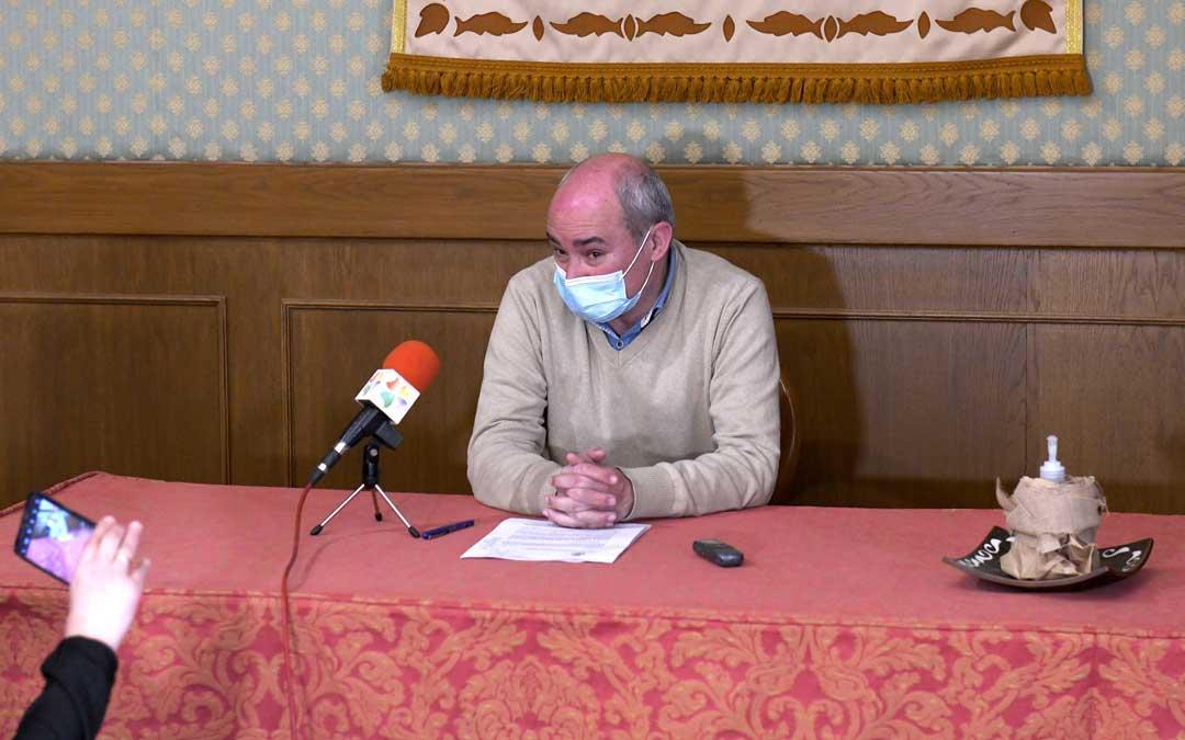 Rueda de prensa de Javier Baigorri sobre el Plan Re-Activa II / Ayuntamiento de Alcañiz