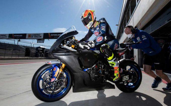 Yamaha y Kawasaki entrenan en Motorland Aragón con la vista puesta en la primera cita de la temporada