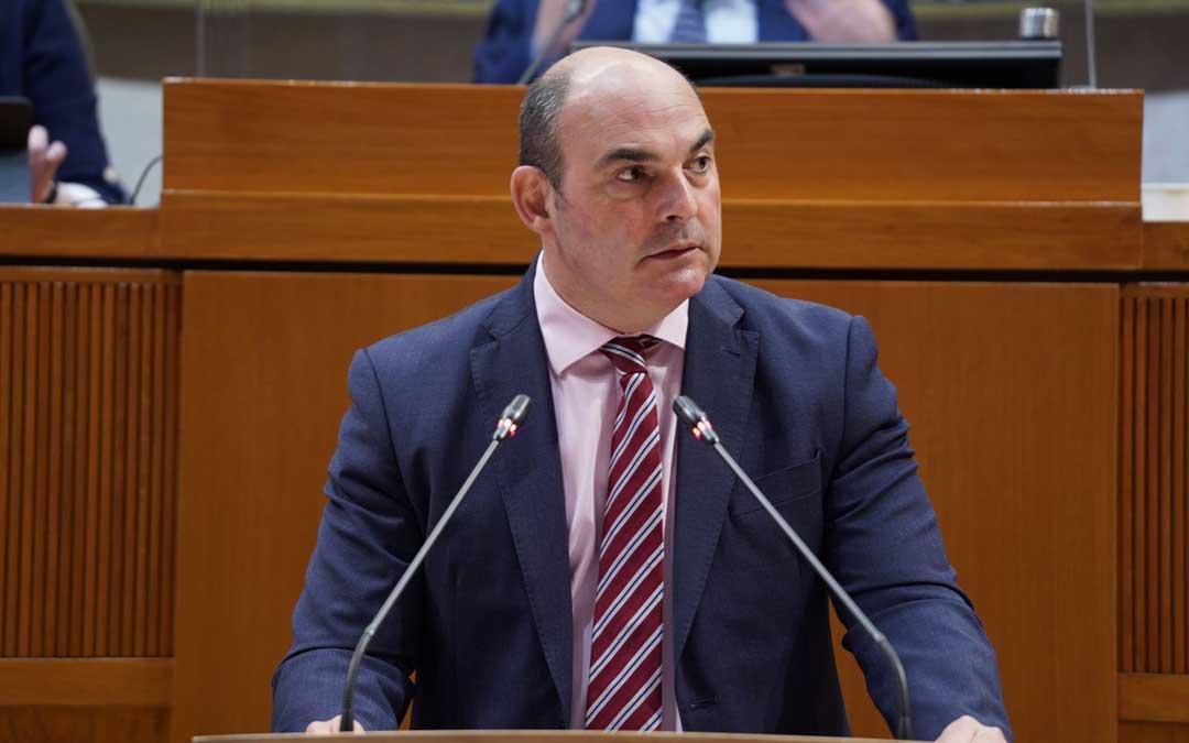 El diputado alcañizano Juan Carlos Gracia Suso en las Cortes de Aragón / PP