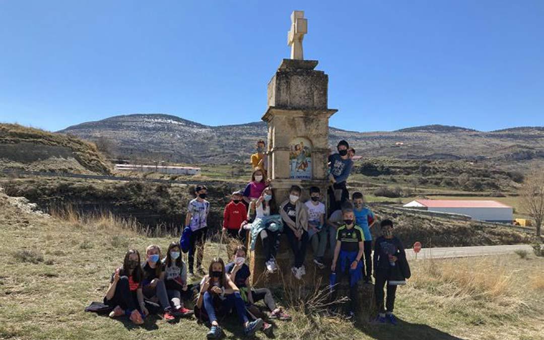 Escolares participantes en el taller./Comarca del Maestrazgo