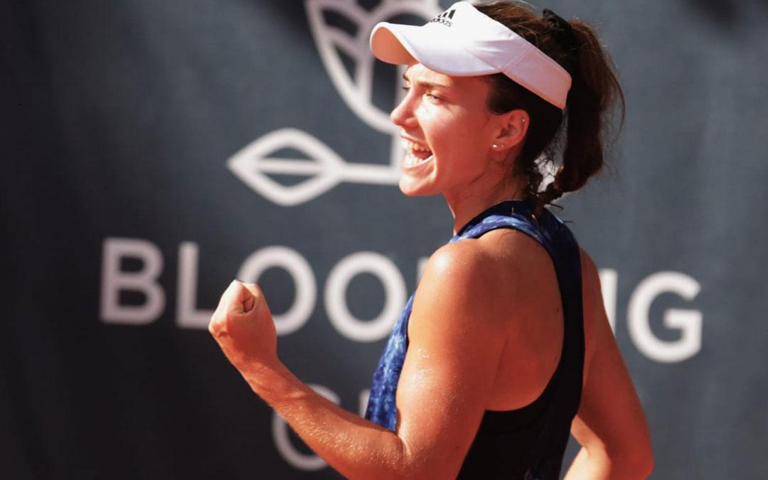 La tenista caspolina Irene Burillo. Foto: Twittter Irbues97