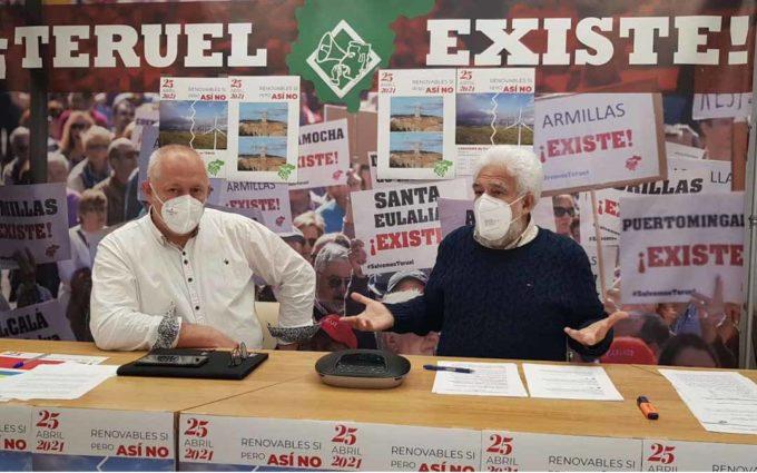 El Movimiento ciudadano Teruel Existe convoca una manifestación el 25 de abril por la «avalancha» de centrales de renovables