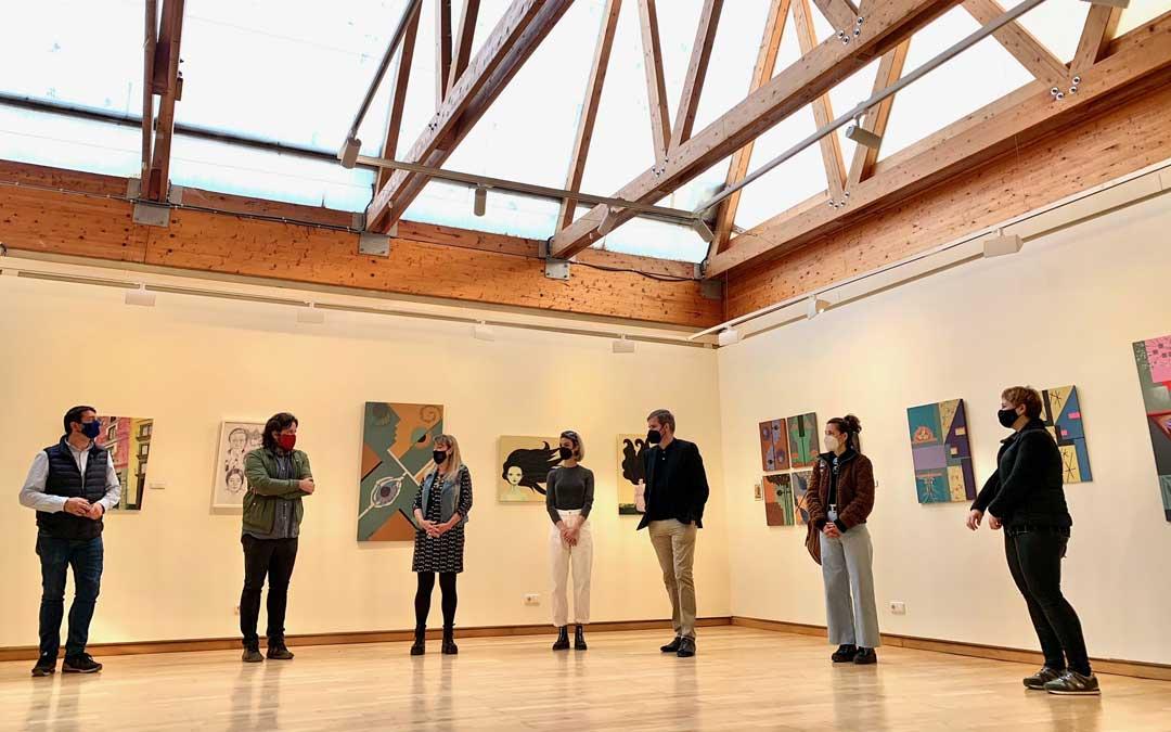 Visita concertada a la muestra para la Comisión de Cultura y Turismo / Ayto. de Alcañiz