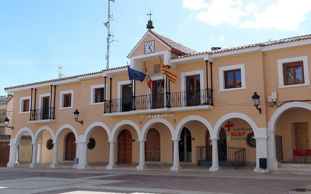 Fachada principal del Ayuntamiento de Utrillas, capital de Cuencas Mineras. / Ayto. Utrillas
