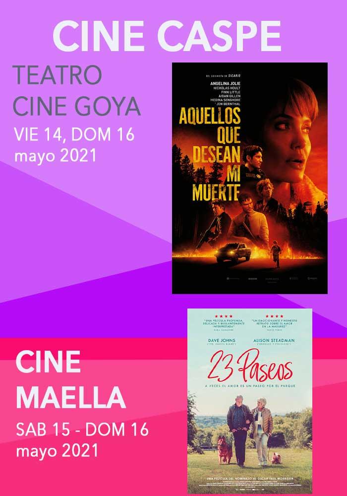 Cartelera Cine Caspe y Maella