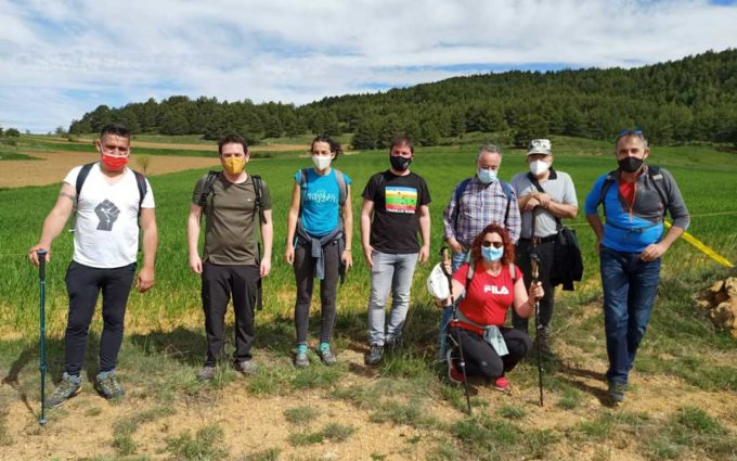 CHA y Compromís reclaman respeto por el patrimonio natural en una marcha de la 'Plataforma a favor de los Paisajes de Teruel'